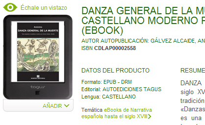 Ebook Danza General de la Muerte, al castellano actual, en Tagus