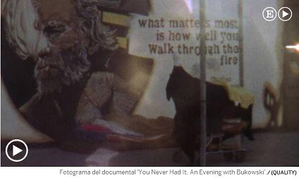 Fotograma del documental You Never Had It. An Evening with Bukowski, en Venecia