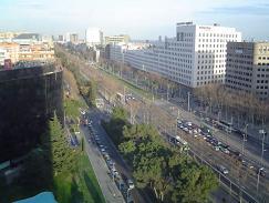 La Avenida Diagonal, en Barcelona