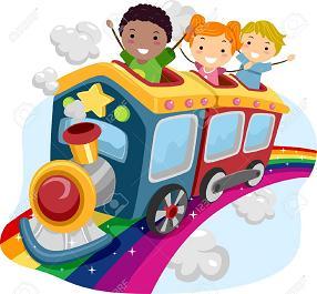 Niños y tren