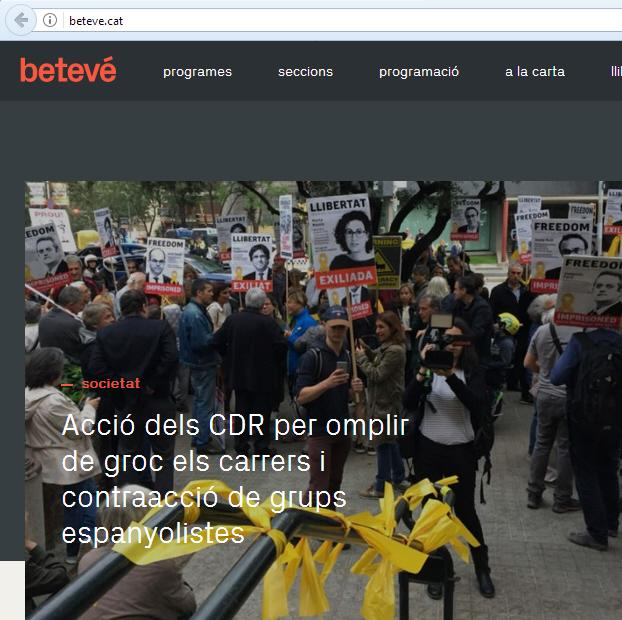 Titular no neutral en la televisión pública Barcelona Televisión (con lo que está cayendo)